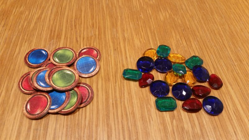 The basic gem tokens and the add-on deluxe gems. Both are nice in their own ways.