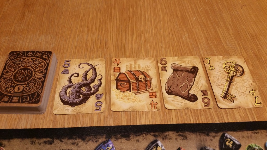 Things are going fine! The Kraken made me draw 2 more, and the map let me grab the key from the discard pile!
