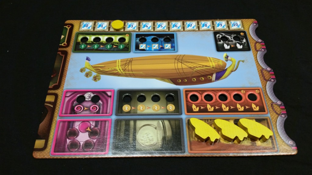 A player board. Each of those hollow spaces is just begging to be socketed with an appropriately colored crystal!