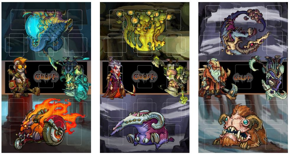 The Gruff Playmats, available directly from Studio Woe.  Amazing!