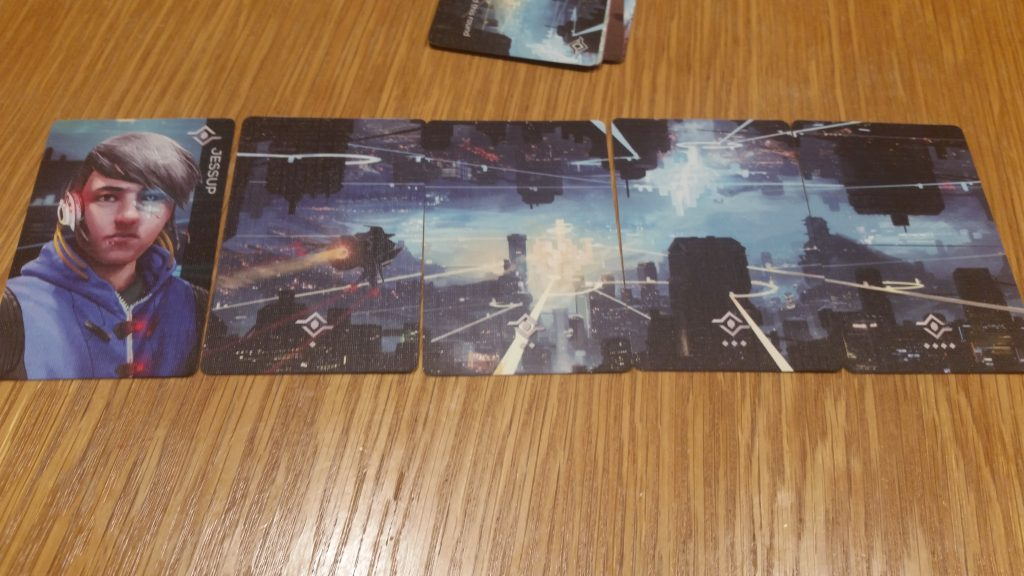 Each character has a unique set of cards they are looking to collect. As these Fragments get locked in, they form an image of that character's home dimension.