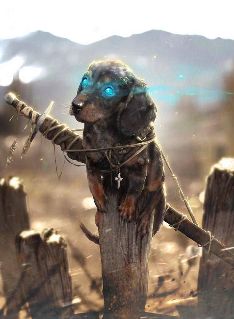 Here, magic puppy! Come here little fella.