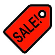 Sale price tag