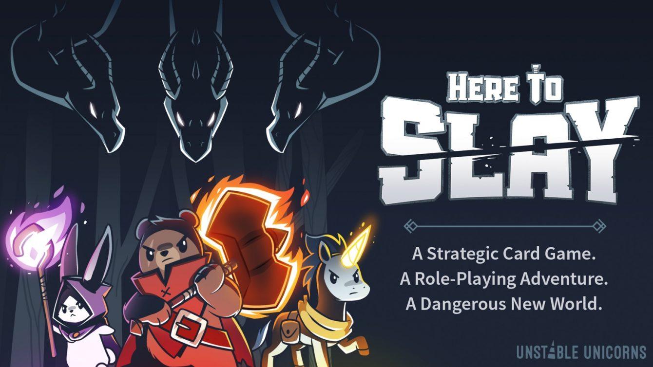 Here to Slay Kickstarter banner