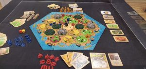 Catan 3D edition - wide shot of board