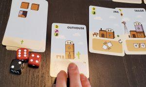 Tumble Town taking cards