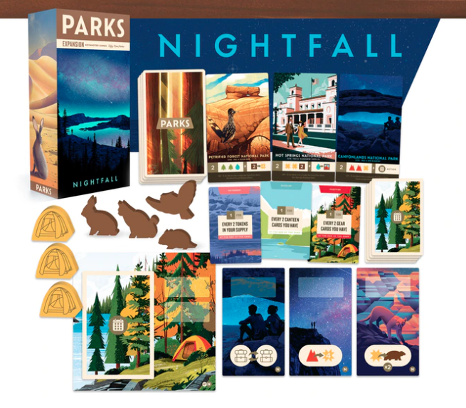 Parks Nightfall Game Components