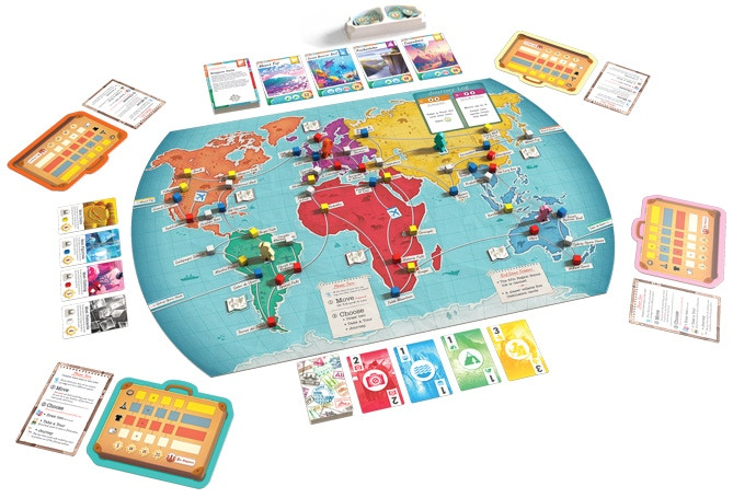 Trekking the World board