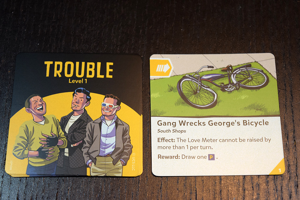 Trouble cards