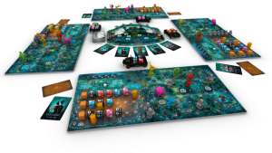 Monsters on Board game components