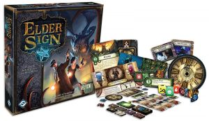 Elder Sign box and components
