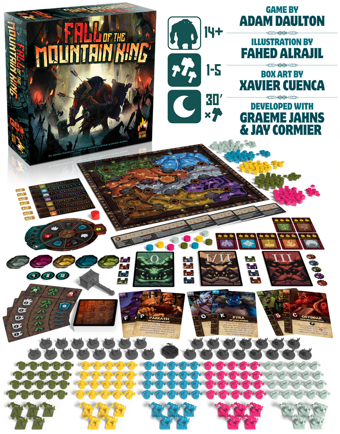 fall of the mountain king components