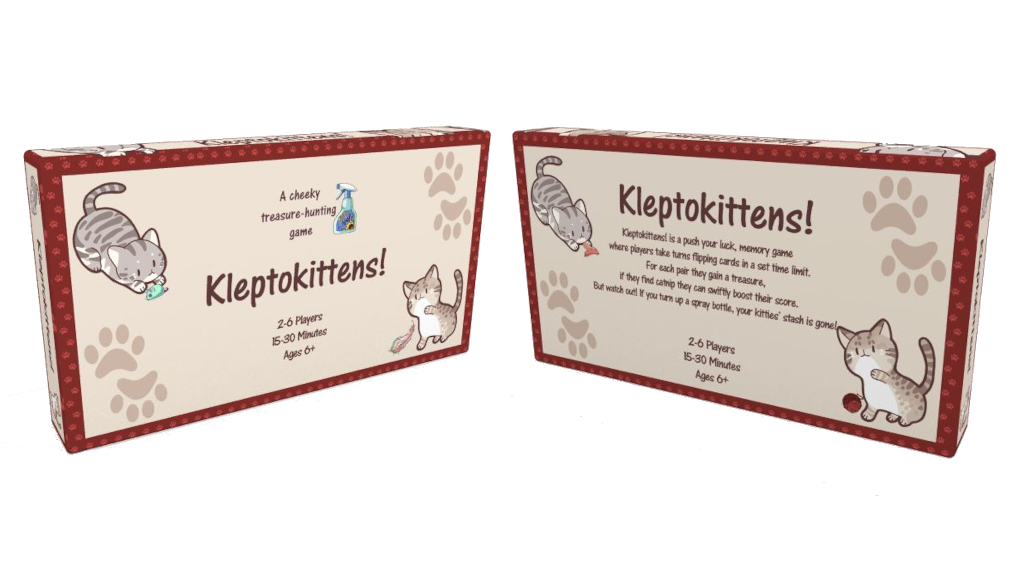 kleptokittens box front and back