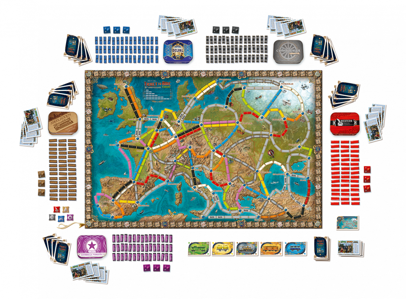 Ticket to ride set up