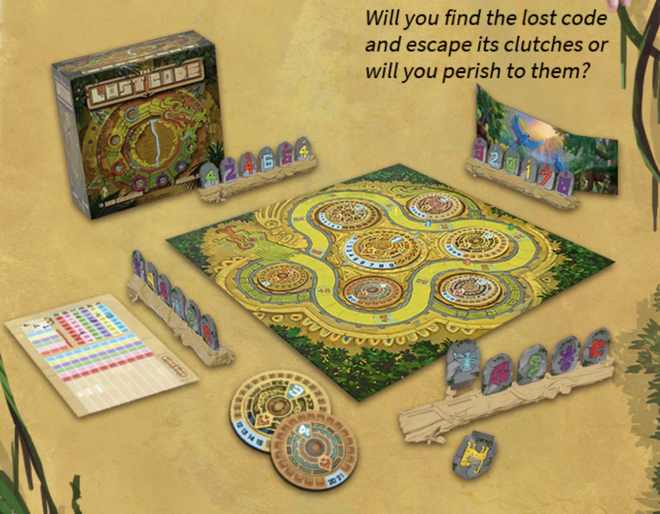 The Lost Code game set up